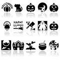 Hhalloween vector icons set halloween eps file available Royalty Free Stock Images