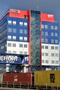 Hhla container terminal headquarter office tollerort is the smallest and most personal of hhla's terminals in the port of Stock Image