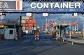 Hhla container terminal main entrance tollerort is the smallest and most personal of hhla's terminals in the port of hamburg Stock Images