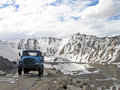 Hi altitude moutain road in Leh-Ladakh region of Indian himala Stock Images