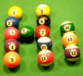 Hi billiard balls forming word Royalty Free Stock Photos