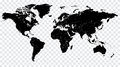 Hi detail black vector political world map illustration high cleverly organized with layers Royalty Free Stock Photography