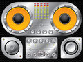 Hi fi control set Royalty Free Stock Image