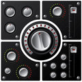 Hi-fi knobs with LED 2 Royalty Free Stock Photo
