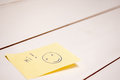 Hi post it on a white wood boards table Royalty Free Stock Image