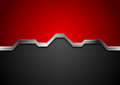 Hi-tech abstract red and black background with metal silver stripe Royalty Free Stock Photo