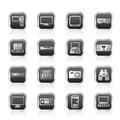 Hi-tech equipment icons Royalty Free Stock Photo