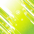 Hi-tech green background Royalty Free Stock Images