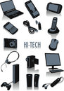 Hi-tech silhouettes Royalty Free Stock Photo