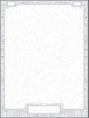 Hi tech vector circuit board diploma frame vertical gray certificate blank with Stock Photos