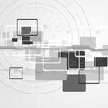 Hi tech vector design abstract grey background Stock Image