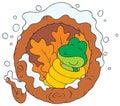 Hibernation illustration Stock Photo
