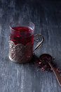 Hibiscus herbal tea Royalty Free Stock Photo
