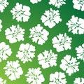 Hibiscus Pattern - Green Royalty Free Stock Photo