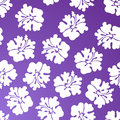 Hibiscus Pattern - Purple Royalty Free Stock Photo