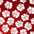 Hibiscus Pattern - Red Stock Photos