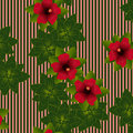 Hibiscus Pattern Royalty Free Stock Photo