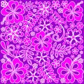 Hibiscus Pink and Purple Pattern Royalty Free Stock Photo