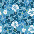 Hibiscus seamless pattern Stock Photo