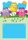 Hibou heureux Introduction_eps Images libres de droits