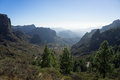 Hicking to roque nublo view from the hike in gran canaria spain Stock Images