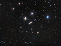 Hickson galaxy group astrology astronomy cluster comet constellation cosmos Royalty Free Stock Photography
