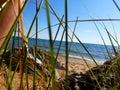 Down by Lake Michigan shoreline Royalty Free Stock Photo
