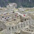 Hidden city Machu Picchu in Peru Royalty Free Stock Photo