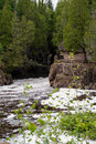 Hidden Falls of the Temperance River Royalty Free Stock Photo