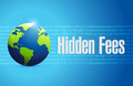 Hidden fees globe sign concept illustration design graphic Stock Images