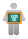 Hidden fees people board sign concept illustration design graphic Stock Photo