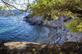 Hidden little beach in Sithonia, Chalkidiki, Greece Royalty Free Stock Photo