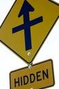 Hidden road sign 库存照片