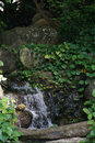 Hidden small waterfall in deep tropical Royalty Free Stock Photo