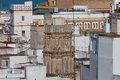 The hidden tower detailed view of la bella escondida in cadiz spain Royalty Free Stock Photography
