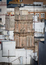 The hidden tower detailed view of la bella escondida in cadiz spain Stock Photos