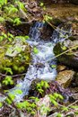 Hidden Waterfall in the Blue Ridge Mountains - 2 Royalty Free Stock Photo