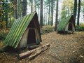 Hideaway Huts Retreat Cabins in the Woods Royalty Free Stock Photo