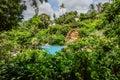 Hideaway swimming pool santhiya koh phangan thaniland july Royalty Free Stock Photography