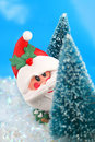 Hiding Santa Claus Royalty Free Stock Photos