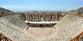 Hierapolis amphitheater turkey ancient city high resolution panorama Royalty Free Stock Photography