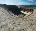 Hierapolis amphitheater wide angle view Royalty Free Stock Photo