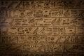 Hieroglyph egyptian on limestone bc Stock Photography