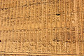 Hieroglyph wall ancient in egypt Stock Image
