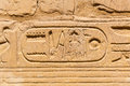 Hieroglyphic of pharaoh civilization in karnak temple egypt Stock Photo