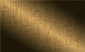 Hieroglyphic poster Royalty Free Stock Photos