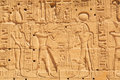 Hieroglyphic on the wall of karnak temple in luxor egypt Stock Photography