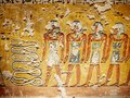 Hieroglyphics depicting the afterlife in the Valley of the Kings Luxor Thebes Egypt Royalty Free Stock Photo