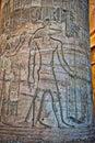 Hieroglyphics at Temple of Kom Ombo Royalty Free Stock Photo