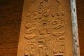 Hieroglyphs in color